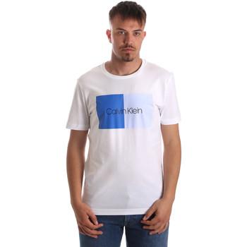 Textiel Heren T-shirts korte mouwen Calvin Klein Jeans K10K103497 Wit