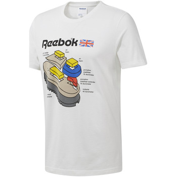 Textiel Heren T-shirts korte mouwen Reebok Sport DT8122 Wit