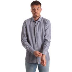 Textiel Heren Overhemden lange mouwen Antony Morato MMSL00520 FA420069 Blauw