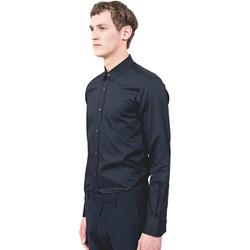 Textiel Heren Overhemden lange mouwen Antony Morato MMSL00525 FA440012 Blauw