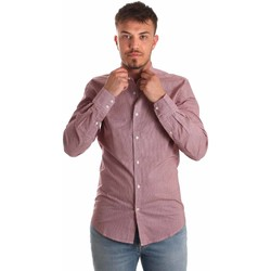 Textiel Heren Overhemden lange mouwen Antony Morato MMSL00526 FA430360 Rood