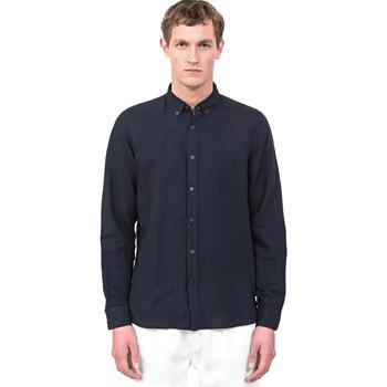 Textiel Heren Overhemden lange mouwen Antony Morato MMSL00530 FA400051 Blauw