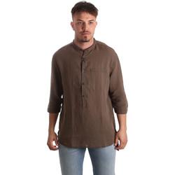 Textiel Heren Overhemden lange mouwen Antony Morato MMSL00531 FA400051 Bruin