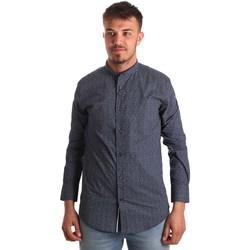 Textiel Heren Overhemden lange mouwen Antony Morato MMSL00532 FA430370 Blauw