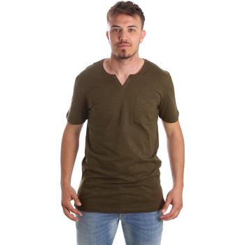 Textiel Heren T-shirts korte mouwen Antony Morato MMKS01487 FA100139 Groen