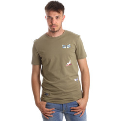 Textiel Heren T-shirts korte mouwen Antony Morato MMKS01515 FA100144 Groen