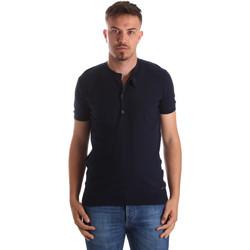 Textiel Heren T-shirts korte mouwen Gaudi 911FU53008 Blauw