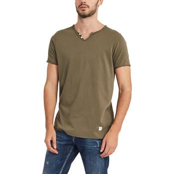 Textiel Heren T-shirts korte mouwen Gaudi 911BU64024 Groen