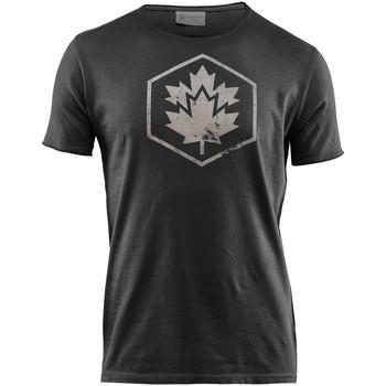 Textiel Heren T-shirts korte mouwen Lumberjack CM60343 002 509 Zwart