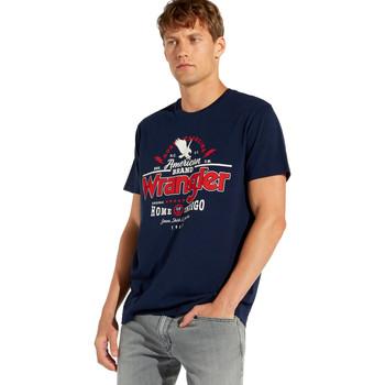 Textiel Heren T-shirts korte mouwen Wrangler W7C08F Bleu