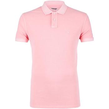 Textiel Heren Polo's korte mouwen Wrangler W7C15K Roze