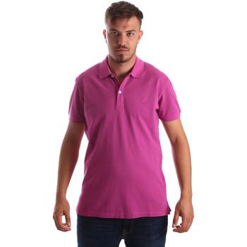 Textiel Heren Polo's korte mouwen Navigare NV82086 Roze