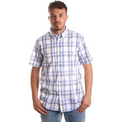 Textiel Heren Overhemden korte mouwen Navigare NV91057 BD Blauw
