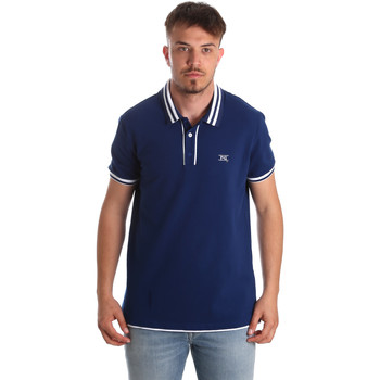Textiel Heren Polo's korte mouwen Nero Giardini P972210U Bleu