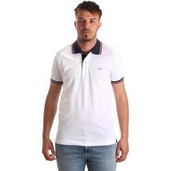 Textiel Heren Polo's korte mouwen Key Up 2Q62G 0001 Wit