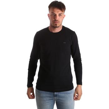 Textiel Heren T-shirts met lange mouwen Key Up 2E96B 0001 Zwart