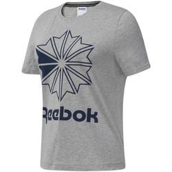 Textiel Dames T-shirts korte mouwen Reebok Sport DT7221 Grijs