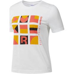 Textiel Dames T-shirts korte mouwen Reebok Sport DY9368 Wit