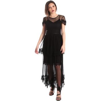 Textiel Dames Lange jurken Fracomina FR19SP364 Zwart