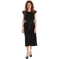 Textiel Dames Jumpsuites / Tuinbroeken Fracomina FR19SP662 Zwart