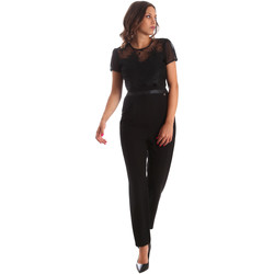 Textiel Dames Jumpsuites / Tuinbroeken Fracomina FR19SP673 Zwart