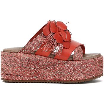 Schoenen Dames Leren slippers Café Noir HG133 Rood