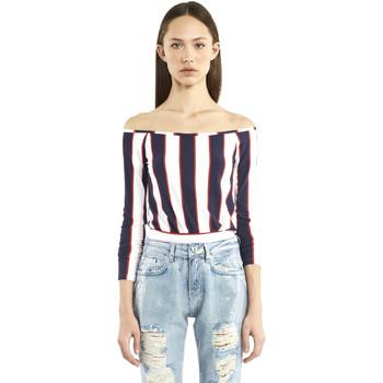 Textiel Dames T-shirts met lange mouwen Denny Rose 911DD60016 Blauw