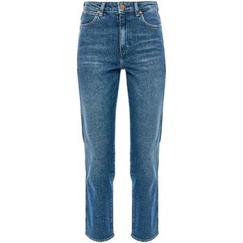 Textiel Dames Straight jeans Wrangler W238TN Blauw