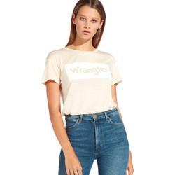 Textiel Dames T-shirts korte mouwen Wrangler W7016D Oranje