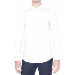 Textiel Heren Overhemden lange mouwen Antony Morato MMSL00375 FA450001 Wit