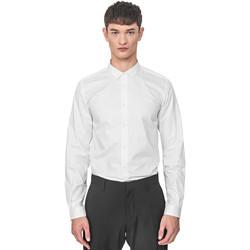 Textiel Heren Overhemden lange mouwen Antony Morato MMSL00596 FA400072 Wit