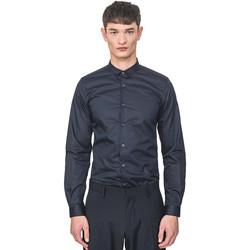 Textiel Heren Overhemden lange mouwen Antony Morato MMSL00596 FA400072 Blauw