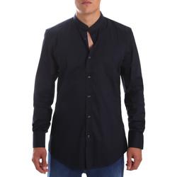 Textiel Heren Overhemden lange mouwen Antony Morato MMSL00376 FA450001 Blauw