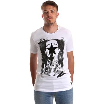 Textiel Heren T-shirts korte mouwen Gaudi 921FU64002 Wit