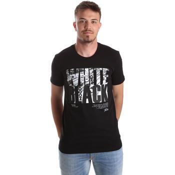 Textiel Heren T-shirts korte mouwen Gaudi 921FU64006 Zwart