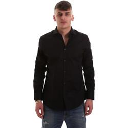 Textiel Heren Overhemden lange mouwen Gaudi 921BU45001 Zwart