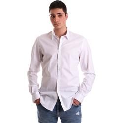 Textiel Heren Overhemden lange mouwen Gaudi 921BU45001 Wit