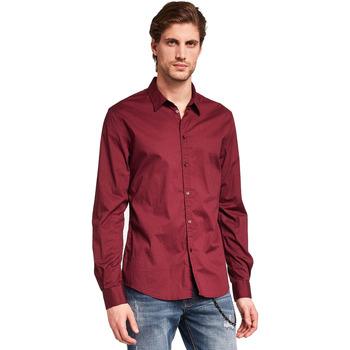 Textiel Heren Overhemden lange mouwen Gaudi 921BU45008 Rood
