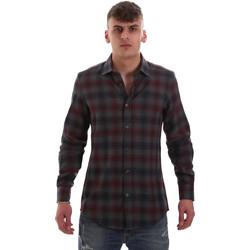 Textiel Heren Overhemden lange mouwen Antony Morato MMSL00548 FA410091 Grijs