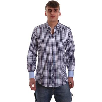 Textiel Heren Overhemden lange mouwen Navigare NV91072 BD Blauw