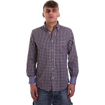 Textiel Heren Overhemden lange mouwen Navigare NV91074 BD Rood
