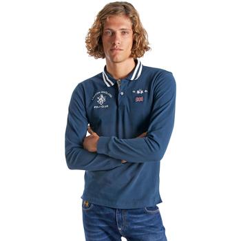 Textiel Heren Polo's lange mouwen La Martina OMP325 JS005 Bleu