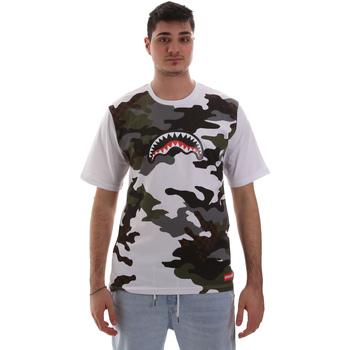 Textiel Heren T-shirts korte mouwen Sprayground SP023S Wit
