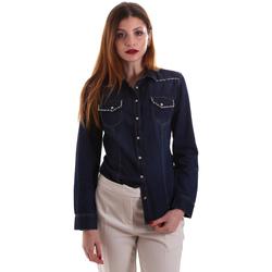 Textiel Dames Overhemden Gaudi 921BD46001 Blauw