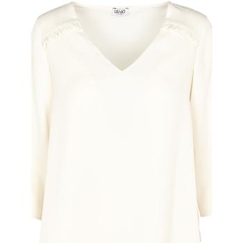 Textiel Dames Tops / Blousjes Liu Jo W69064 T5630 Beige