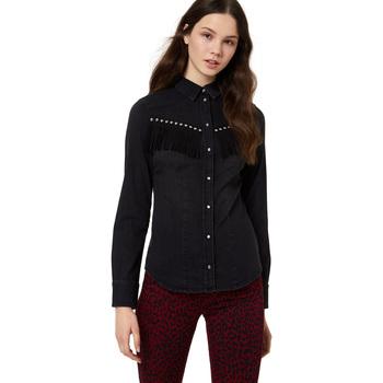 Textiel Dames Overhemden Liu Jo U69071 D3114 Zwart