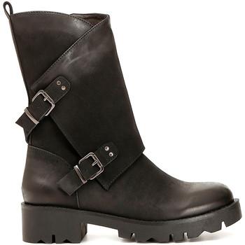 Schoenen Dames Hoge laarzen Café Noir FE954 Zwart