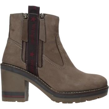 Schoenen Dames Enkellaarzen Wrangler WL92600A Grijs