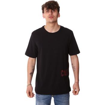 Textiel Heren T-shirts korte mouwen Calvin Klein Jeans 00GMH9K287 Zwart