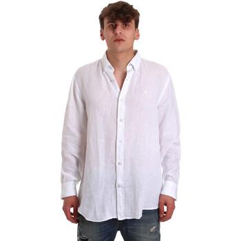 Textiel Heren Overhemden lange mouwen Navigare NV91108 Wit